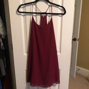 Naked Zebra Burgundy Slip Dress